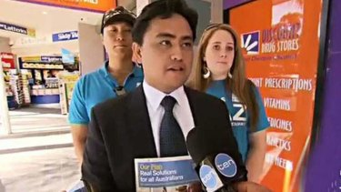 Not such a smooth run: Candidate for Greenway Jaymes Diaz.