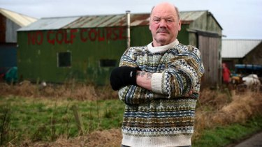 Top Scot ... fisherman Michael Forbes, who has fought Donald Trump's plans.
