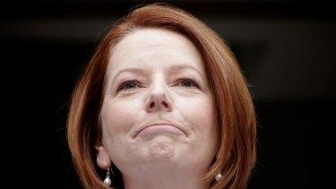 Called a dog ... Prime Minister Julia Gillard.
