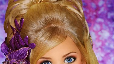 Living doll ... child beauty queen Eden Wood on her Facebook page.
