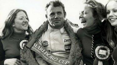 Glory days … Bob Jane after winning the 1972 Australian Touring Car Championship.