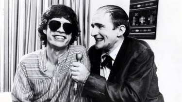 Norman Gunston (Garry McDonald) with Mick Jagger in 1978.