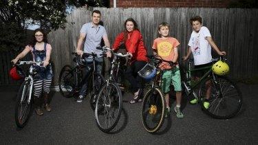 This Brunswick family, Daisy Wilson, Nic Kocher, Joanna Wilson, Rollo Wilson Kocher and Oscar Wilson Kocher have had eight bikes stolen in the past four years.