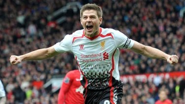 Spot on: Liverpool captain Steven Gerrard converted two penalties, but missed a third.