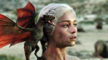 Emilia Clarke as Daenerys Targaryen in Game of Thrones.