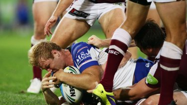 "Optimistic: Aiden Tolman wants the Bulldogs to stay ""positive""."