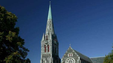 Christchurch cathedral before the quake.