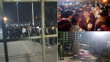 Images circulated on Chinese social network Weibo that purport to show the Foxconn riot.