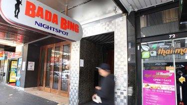 Crime scene: Bada Bing.