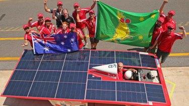 Queensland Team Arrow at the World Solar Challenge in Darwin.