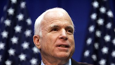 Stumped ... US Republican presidential candidate John McCain.