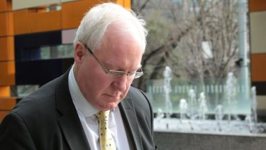 'Unsettled by rumours': Phillip Thomas leaves the Federal Court yesterday.