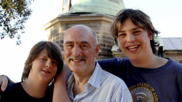 ''They must have made a mistake'' ... Fred Watson with his sons, Will, left, and James.