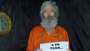 A photo of Robert Levinson received by his family in April 2011.