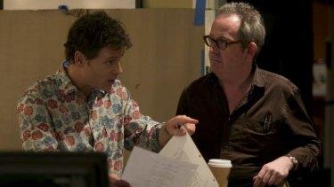 <i>Rake</i> producer Peter Duncan with Greg Kinnear.