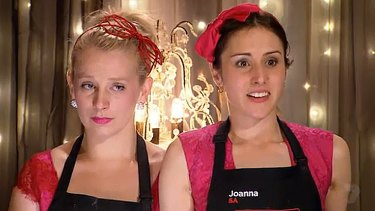Melting moments: Tears and fears for 'Little Miss Cupcake' Jenna, left, and sister-in-arms Joanna.