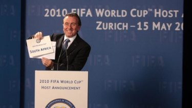Tim Roth as Sepp Blatter in <i>United Passions</i>, the FIFA-financed movie copping a critical and box office mauling.