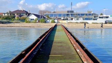 Royal Brighton Yacht Club's 150-metre slipway.