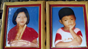 Drowning victims ... Hut Heap, 13, and her brother Hut Hoeub, 9, died four days after they and their families were forcibly resettled.