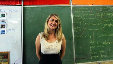 Balancing act: Teacher Laura Robinson believes funding is the key to lifting standards.