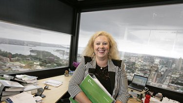 """This Kiwi's not flightless after all...New Zealander Carrie Follas at her Sydney office. """"We do have a better life here"""""""