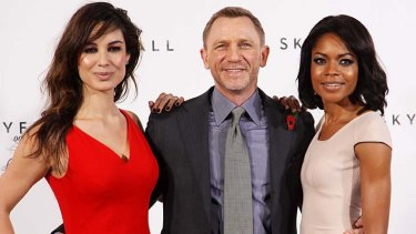 New Bond film ... Daniel Craig will be joined on screen by  Berenice Marlohe, left, and Naomie Harris.