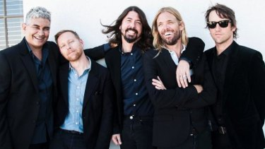 The Foo Fighters will tour in February and March 2015. From left, Pat Smear, Nate Mendel, Dave Grohl, Taylor Hawkins and Chris Shiflett.