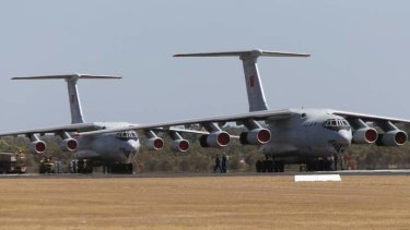 Two Chinese Air Force Ilyushin Il-76 aircraft, expected to join the search for Malaysian Airlines flight MH370 in Perth.