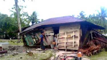 Tsunami ravaged North Pagai Pagai Utara, one of the Mentawai islands.