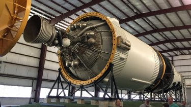 The Saturn V's third stage: the Apollo spacecraft which travelled to the Moon.