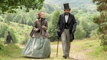 <i>The Invisible Woman</i> stars Ralph Fiennes as Charles Dickens and Felicity Jones as Nelly Ternan.