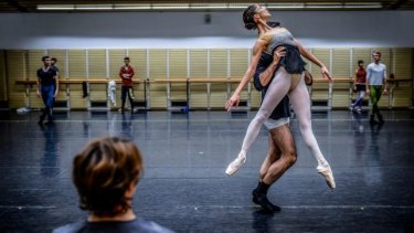 Robyn Hendricks, pictured rehearsing in Sydney in April, has been nominated for a fourth time in the Telstra Ballet Dancer Award.
