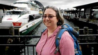 Jennifer Blaikie at Circular Quay.