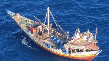 A fishing boat off the coast of Yemen.