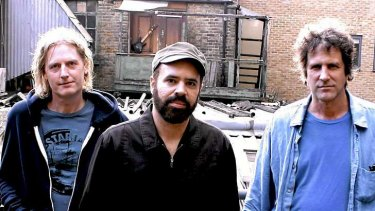 Wanderlust: (Left to right) Swervedriver's Graham Bonnar, Adam Franklin and Jimmy Hartridge are ready to rise again.