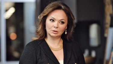 Kremlin-linked lawyer Natalia Veselnitskaya speaks to a journalist in Moscow on the day of the US presidential election.