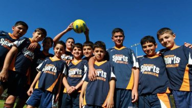 Positive path: Young Australian Lebanese players at Bankstown.