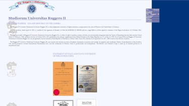 The website of The Ruggero II University.