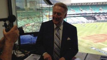 LA Dodgers caller Vin Scully at the SCG.