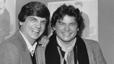 Band of brothers: A newly reunited Phil and Don Everly in New York in 1984. Photo: AFP