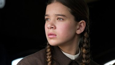 Get a grit, girl: As Hattie Ross, a 14-year old farm girl bent on revenge, actress Hailee Steinfeld steals much of the film from star Jeff Bridges in the Coen Brothers unremarkable remake of True Grit.