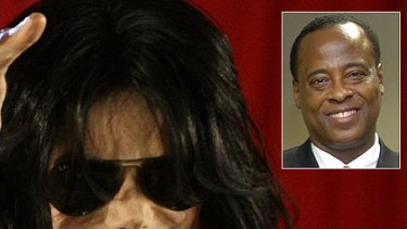 Michael Jackson's live-in physician, Conrad Murray, inset, was questioned for three hours.