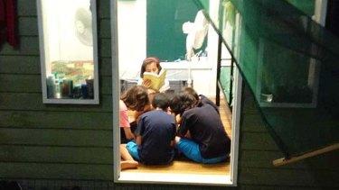 Refugee children on Manus Island.