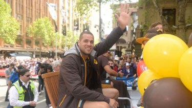 Happy Hawk: Lance Buddy Franklin.