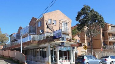 Suspended: The Bisotel Rieh headquarters in Lakemba.