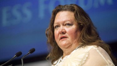 Gina Rinehart is now the world's fifth richest woman.