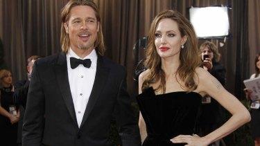 Happier than ever: Angelina Jolie and Brad Pitt.