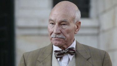 Patrick Stewart as Lord Simpson in Israeli crime comedy <i>Hunting Elephants</i>.
