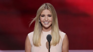 Ivanka Trump at the Republican National Convention, sporting a dress from her label.