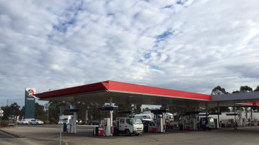The Caltex petrol station on the M4 Motorway where motorists purchased the contaminated fuel.